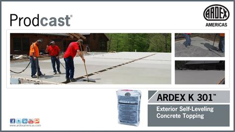 ardex k 301 exterior self leveling concrete topping
