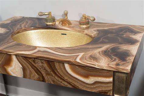 marble vintage bathroom vanity with gold glitter