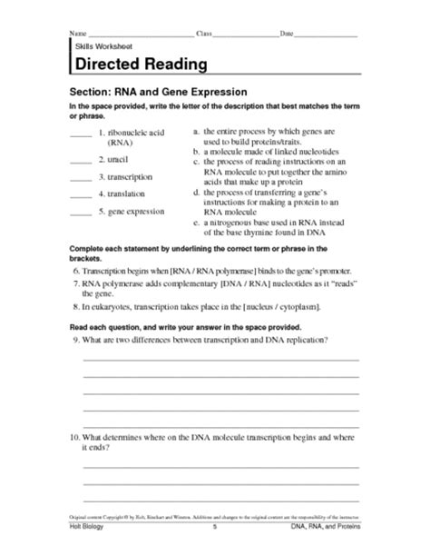 Gallery Protein Synthesis Worksheet Lesson Plans Inc