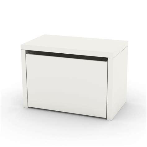 table de chevet coffre de rangement blanc flexa play mobilier smallable