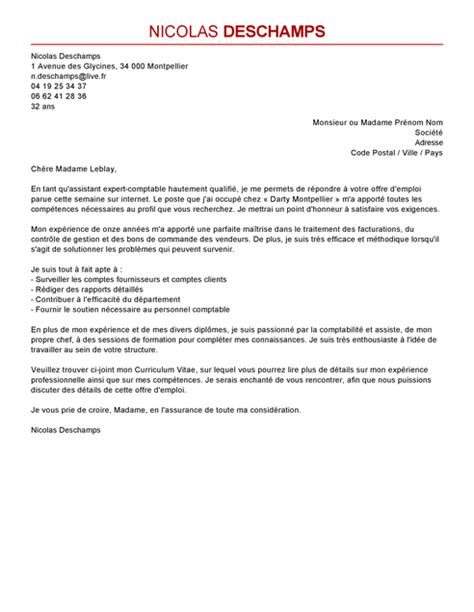 lettre de motivation assistant expert comptable mod 232 le lettre de motivation assistant expert