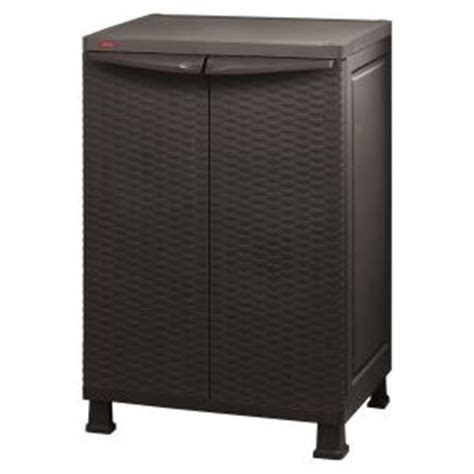 Home Depot Outdoor Storage Cabinets by Keter 26 In X 39 In Freestanding Plastic Rattan Base