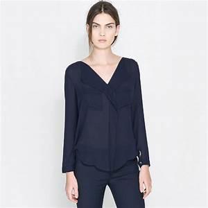Womens Navy Blouse | Fashion Ql