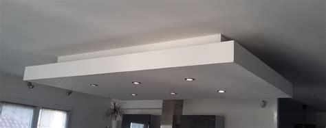 d 233 roch 233 plafond descendu suspendu ilot central decaissement design spots caisson placo platre