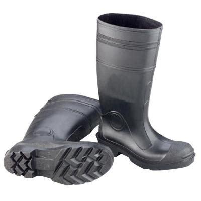 Rubber Boots Home Depot by Enguard Men Size 11 Black Pvc Plain Toe Boots Egpt 11