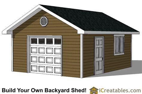 pdf storage building plans 16 x 20 with porch plans free