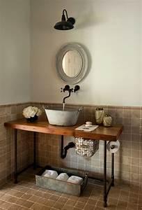 Waschbecken Arbeitsplatte Bad : 32 trendy und chic industrial badezimmer vanity ideen beste inspiration ~ Markanthonyermac.com Haus und Dekorationen