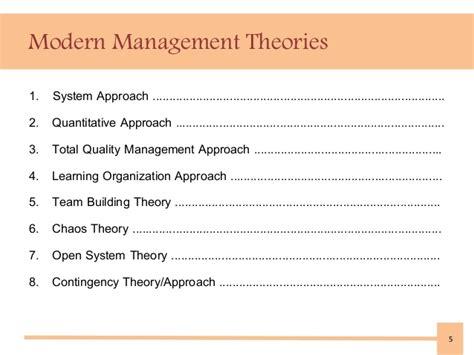 modern management theories