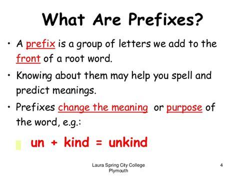 Roots Prefixes Suffixes