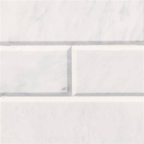 subway tile carrara white marble subway tile 4x12 polished beveled