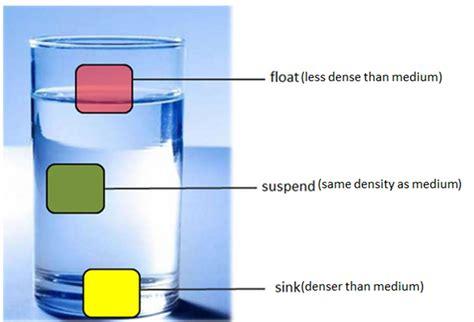 density sink float or suspend science is