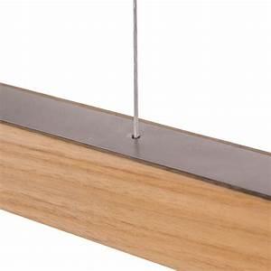 Hängeleuchte Holz Design : lange holzh ngeleuchte mit led technik ~ Markanthonyermac.com Haus und Dekorationen