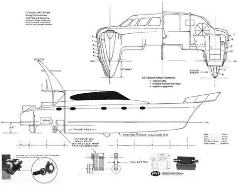 Catamaran Hull Lines by 55 180 Power Catamaran Yacht Renderings Plans