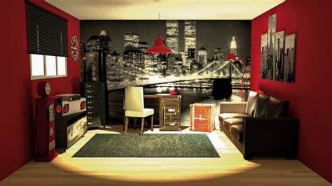 idee deco chambre ado fille theme new york chaios
