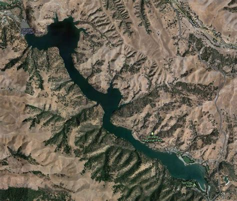 Lake Del Valle Boating by Lake Del Valle Map And Info Rb Bass Fishing