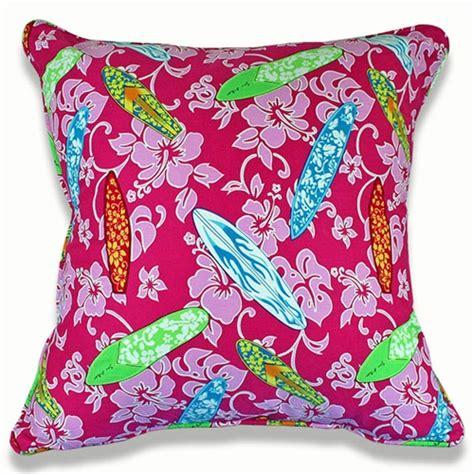 Pink Surf Pillow By Dean Miller