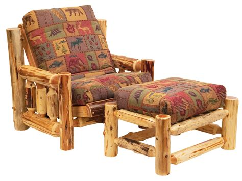 cedar futon chair and ottoman set and futon cover