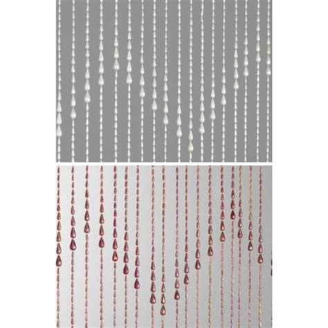 beaded door curtain window screen teardrop design plastic