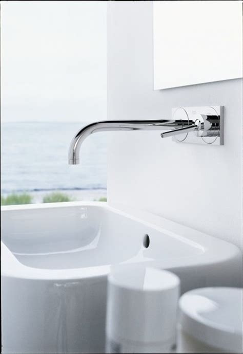 hansgrohe axor uno wall mounted single handle faucet trim w base plate 38117001 modern