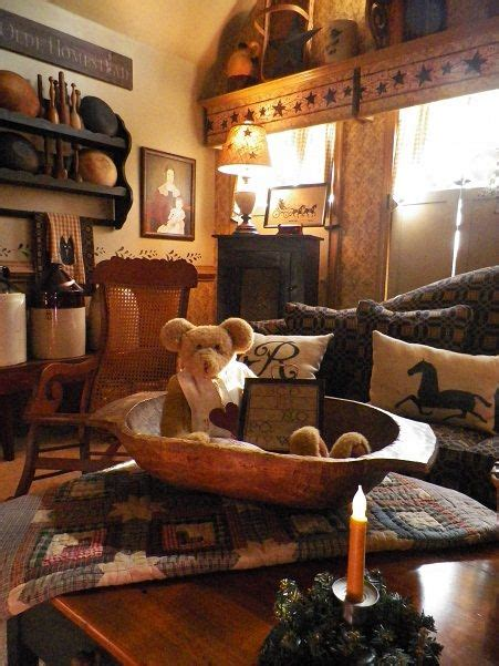 minus the teddy family room living room rustic farmhouse primitive cottage decor i adore