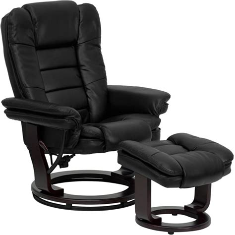 Recliner Chair Walmart by Contemporary Leather Recliner And Ottoman With Swiveling
