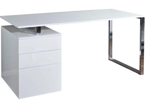 Bureau Blanc Laqué Design Avec Tiroirs  Vente De