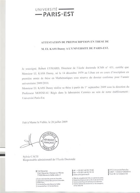 modele certificat inscription ecole document