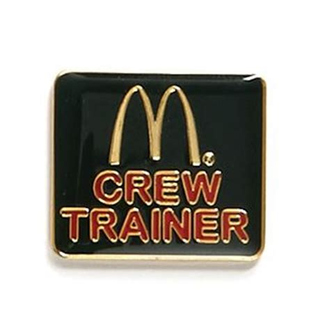 Crew Trainer Lapel Pin  Smilemakers  Mcdonald's Approved