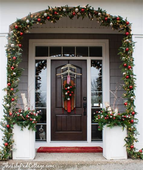 vintage sled front door decor the lilypad cottage
