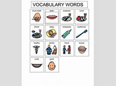 February Vocabulary Words Room 111 Happenings