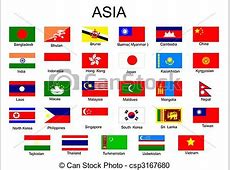 List of all asian country flags without middle asia