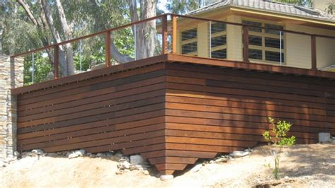 deck skirting here s a contemporary deck with cab