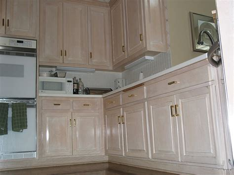 pickeled cabinet project kansas city kitchen cabinet restyling and refinishing