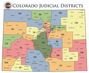 Colorado State Judicial Branch - Courts - District Map