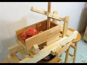 Homemade apple grinder - YouTube