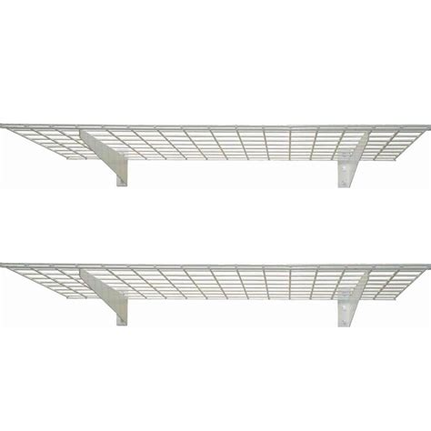 Hyloft Heavy Duty Ceiling Storage Unit by Hyloft 2 Shelf 45 In W Wire Garage Wall Storage System In