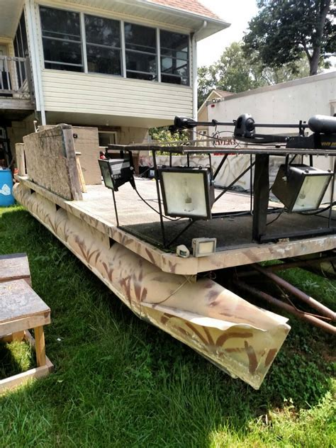 Duck Hunting Boats For Sale In Texas by Boat Blind For Sale 20 Pontoon Duck Blind Bowfishing