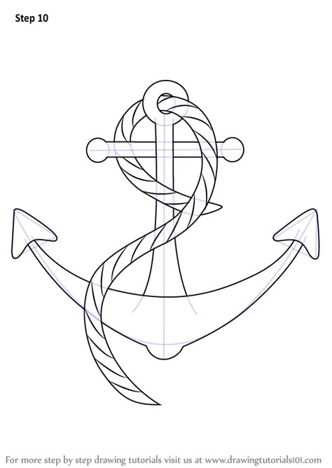 How To Draw A Cartoon Boat Step By Step by Learn How To Draw A Boat Anchor Boats And Ships Step By