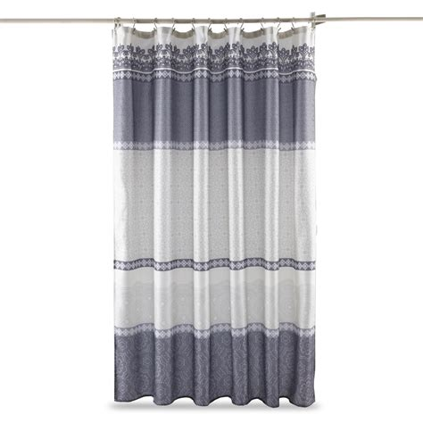 Kmart Bathroom Window Curtains by Essential Home Quincy Shower Curtain