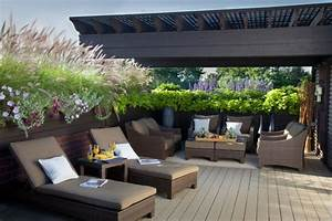 Gräser Kübel Terrasse : balkon sichtschutz pflanzen k bel holzzaun der geheime garten pinterest ~ Markanthonyermac.com Haus und Dekorationen