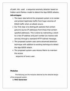 Detection of application layer ddos attack using hidden ...