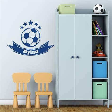stickers ballon foot personnalis 233 avec pr 233 nom d 233 coration chambre garcon fan de foot