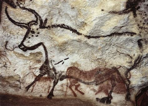 grotte de lascaux la salle des taureaux panneau de l ours noir troisi 232 me taureau