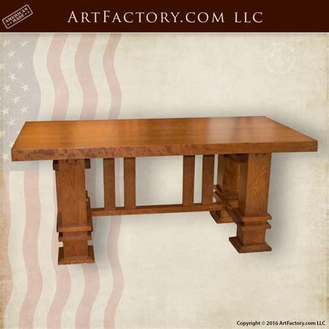 Custom Craftsman Style Table Frank Lloyd Wright Inspired