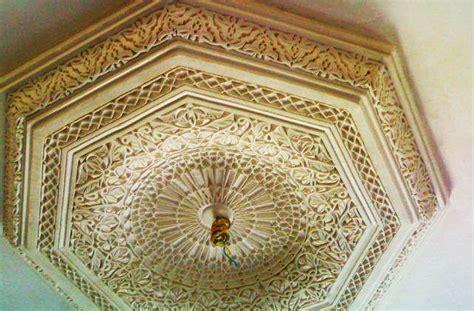 moulure rosace plafond en platre d 233 coration marocaine