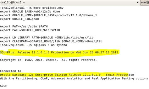 Oracle Datbase 12c Installation On