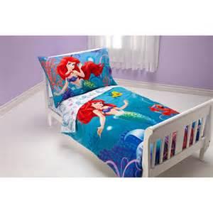 disney mermaid quot princess quot 4pc toddler bedding set walmart