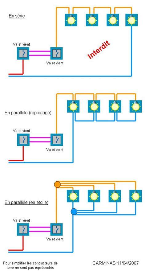 sch 233 ma de branchement circuit 233 clairage disjoncteurs branche les enparall 232 le ou en s 233 rie
