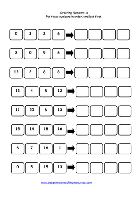 Pre School Worksheets » Ordering Numbers Ks1 Worksheet Tes  Free Printable Worksheets For Pre