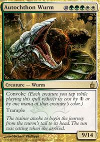 autochthon wurm ravnica magic the gathering gaming store for cards miniatures
